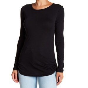 14th & Union Boatneck Knit Sweater Long Sleeve Tee